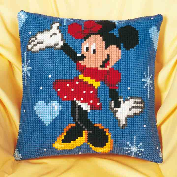 Vervaco Cross Stitch Cushion Kit: Minnie Mouse