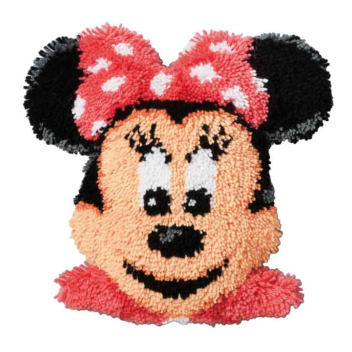 Vervaco Latch Hook Kit: Shaped Cushion: Minnie Mouse