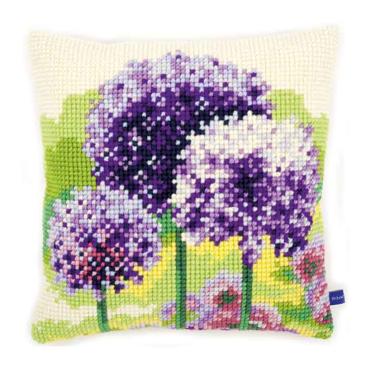 Vervaco Cross Stitch Cushion: Allium Flowers & Nature CSCK