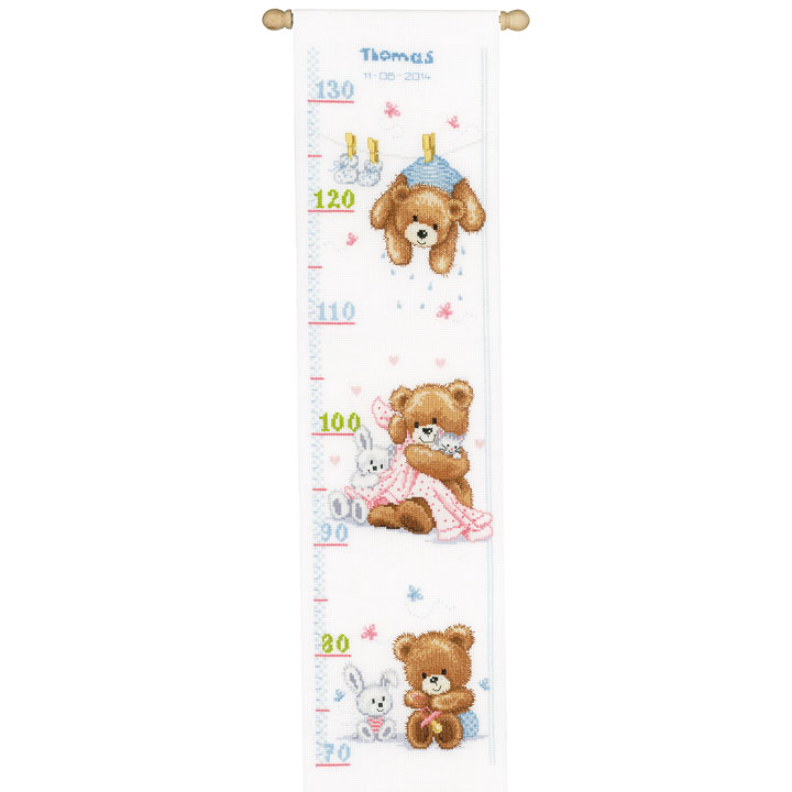Vervaco Counted Cross Stitch: Height Chart: Lovely Bears Height Charts CSK