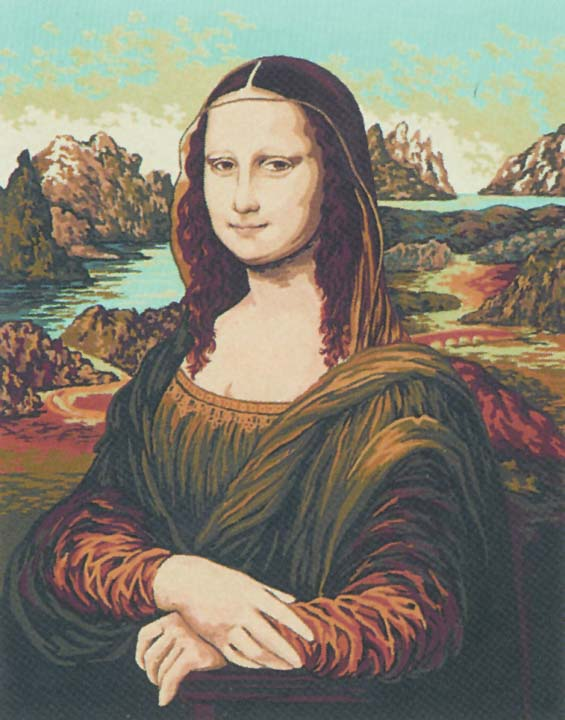 Collection D Art Printed Tapestry Canvas: Mona Lisa, Da Vinci