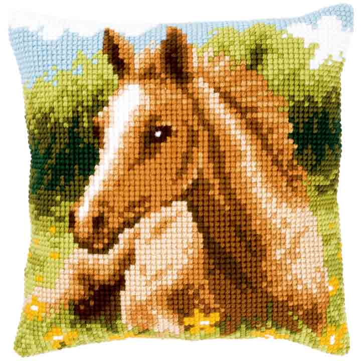 Vervaco Cross Stitch Cushion: Foal