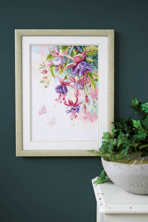 Vervaco Counted Cross Stitch Kit: Fuchsia