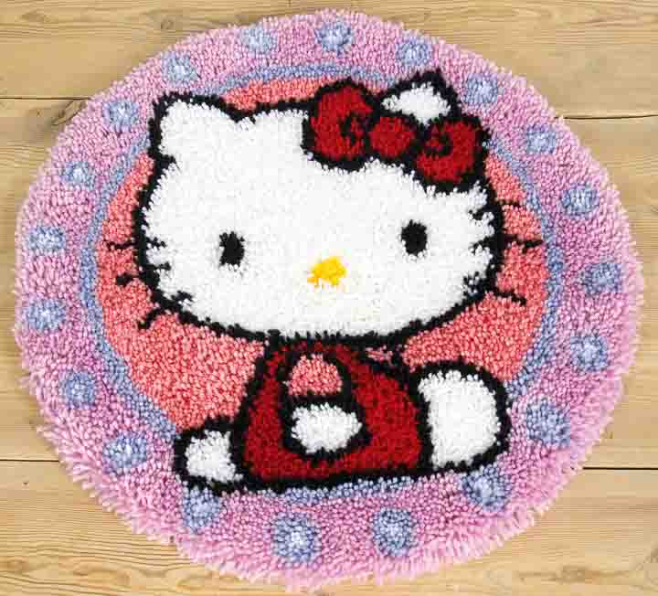 Vervaco Latch Hook Rug Kit: Hello Kitty Latch Hook Rug & Wall Hanging Kit