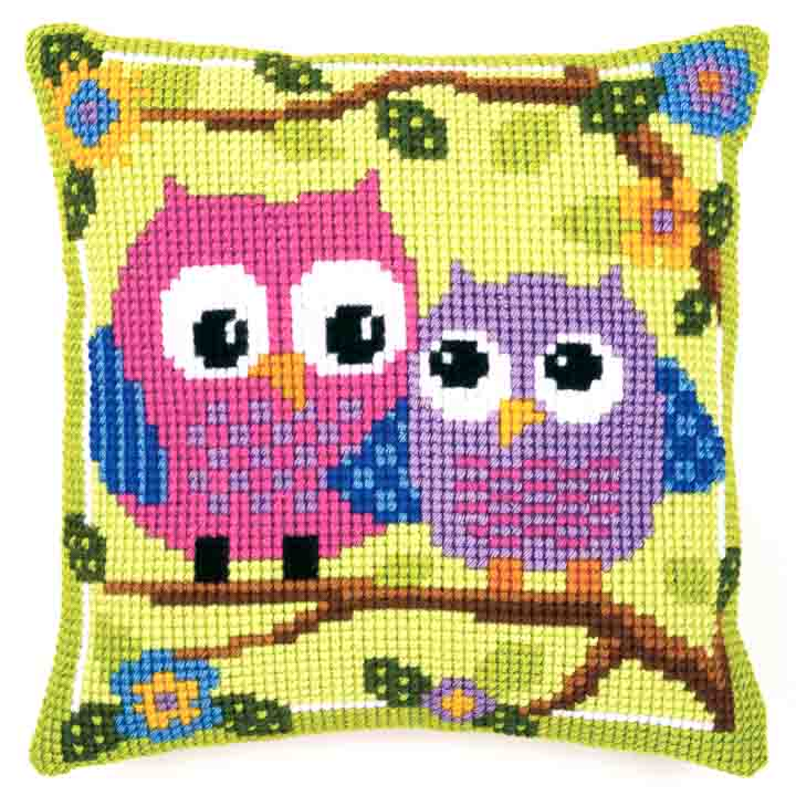 Vervaco Cross Stitch Cushion: Owls Birds CSCK