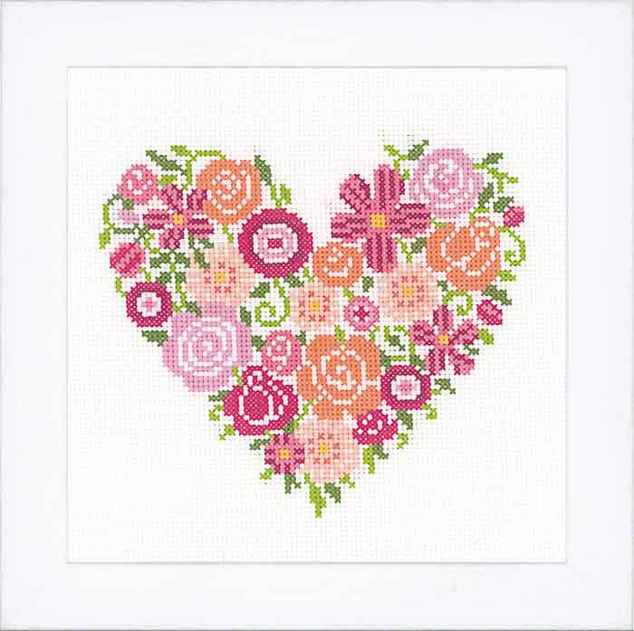 Vervaco Counted Cross Stitch Kit: Floral Heart | PN_0156336