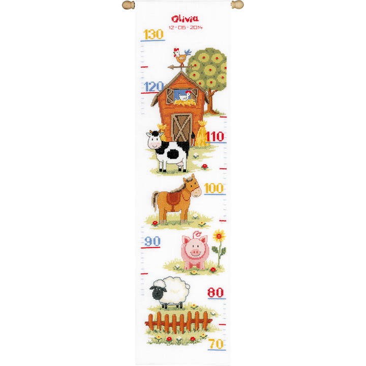 Vervaco Counted Cross Stitch: Height Chart: At The Farm II Height Charts CSK
