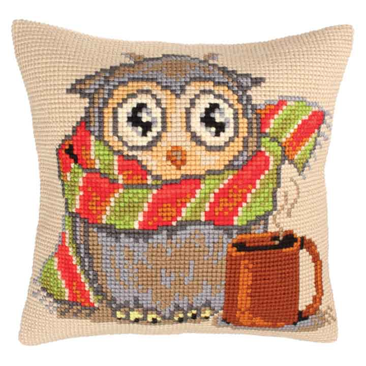 Collection D Art Cross Stitch Cushion: Staying at Home Animals & Birds CSCK