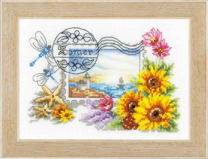 Vervaco Counted Cross Stitch: Summer Stamp