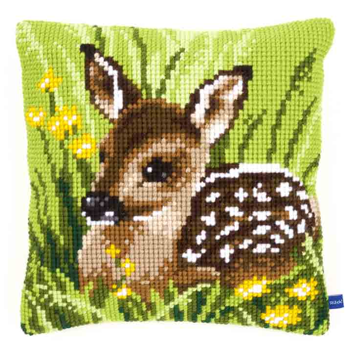 Vervaco Cross Stitch Cushion: Little Deer