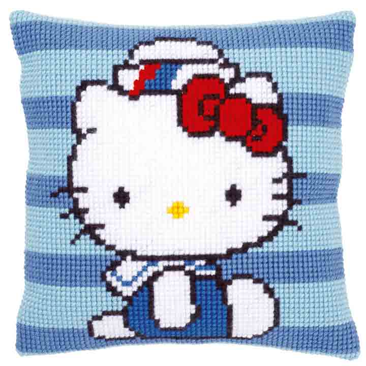 Vervaco Cross Stitch Cushion: Hello Kitty: Marine I