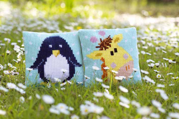 Vervaco Cross Stitch Cushion: Baby Giraffe I