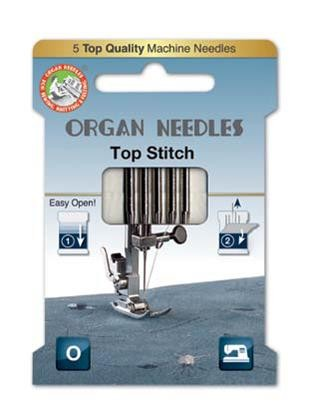 Organ Top Stitch Sewing Needles | Size 80/12 | 5 Needles Per Pack