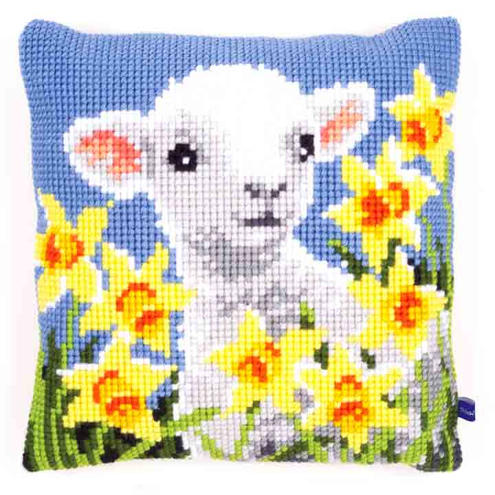 Vervaco Cross Stitch Cushion: Lamb Animals & Birds CSCK