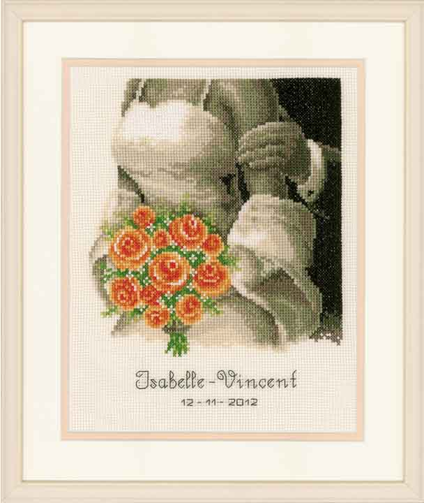 Vervaco Counted Cross Stitch Kit: Wedding Record: The Bouquet