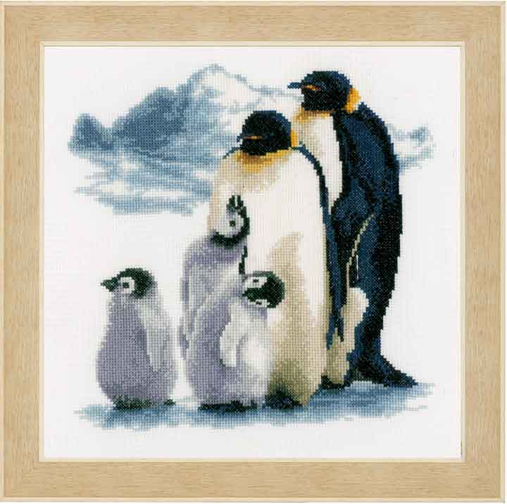 Vervaco Counted Cross Stitch Kit: Penguin Family