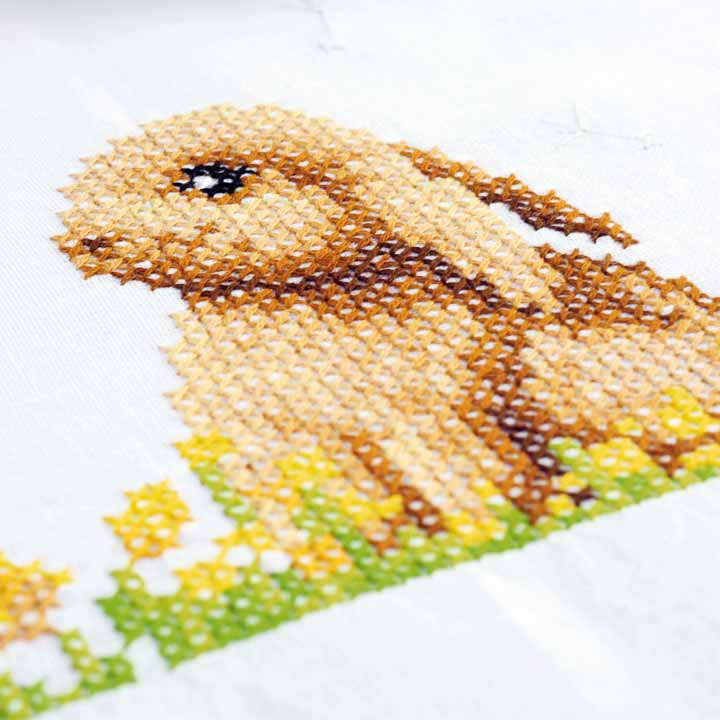 Vervaco Counted Cross Stitch: Runner: Rabbit on the Grass