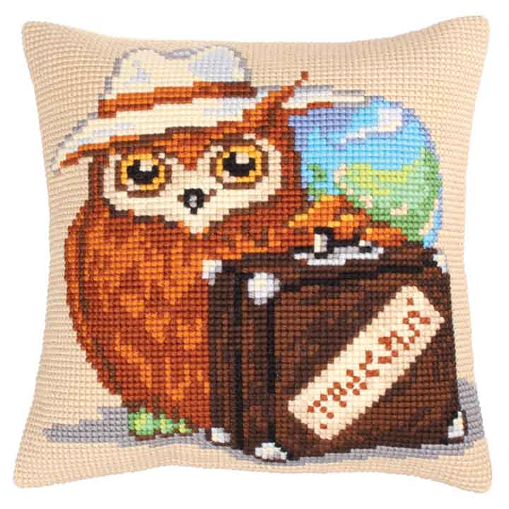 Collection D Art Cross Stitch Cushion: Voyager Animals & Birds CSCK