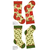 Tis Is The Season Christmas Stockings on Fabric Panel