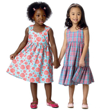 Toddlers'/Children's Dress B6004 1, 2, 3, 4, 5, 6