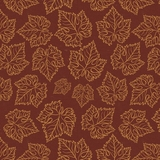 Tonal Grape Leaves on Wine Fabric