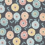 Pastel Multicolour Tossed Floral Fabric