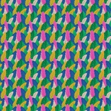 Tropical Jammin - Multicolour Frond Leaves Fabric