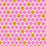 Tropical Jammin - Tropical Leaves in Pink Fabric