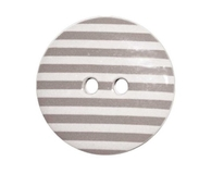 Two Hole Grey Striped Buttons 15mm 6pk