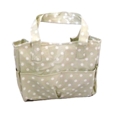 Value Vinyl Crafters Bag Cream With Polka Dots