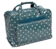 Value Vinyl Sewing Machine Bag Blue With Polka Dots Sewing Machine Bags  3