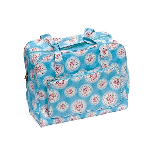 Value Vinyl Sewing Machine Bag Cameo Fl Blue