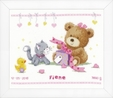 Vervaco Counted Cross Stitch Kit: Bear & Present | PN_0157028 Bears & Mice CSK