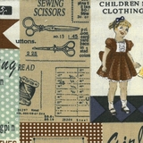 Vintage Fashion & Sewing Labels Fabric For Craft & Bag Making