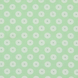 White Daisy on Green 1 Metre Fabric