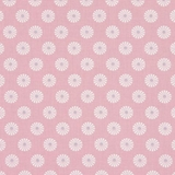 White Daisy on Pink 1 Metre Fabric