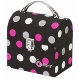 White Dots on Black Medium Crafters Treasure Trunk