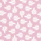 White Leaves on Pink 1 Metre Fabric