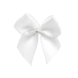 White Pearl Crossover Bow 6pk