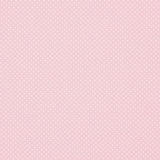 White Polka Dots on Pink 1 Metre Fabric