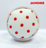 Janome White with Red Dot Pin Cushion