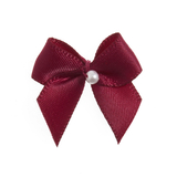 Wine Pearl Crossover Bow 6pk