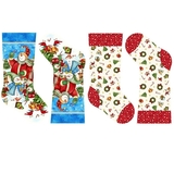 Winter Magic Snowman Stocking Fabric Panel