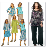 Women's Top, Dress, Skirt and Pants B5722/RR(18W-20W-22W-24W)