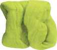 Wool Roving Lime Green