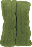 Wool Roving Moss Green